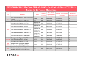 SESSIONS DE PREPARATION OPERATIONNELLE A L