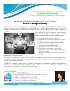Réaliser sa stratégie marketing