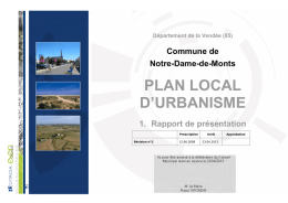 plan local d`urbanisme - Mairie de Notre Dame de Monts