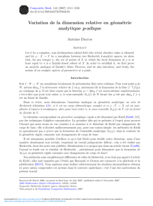 Variation de la dimension relative en géométrie analytique p