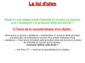 2) Application de la loi d`Ohm