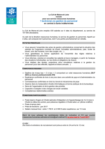 n(e) technicien(ne) gestion du personnel