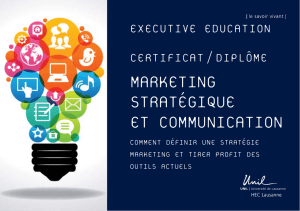 MARKETING STRATÉGIQUE ET COMMUNICATION