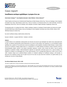 Case report - The Pan African Medical Journal
