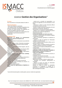 Licence Gestion des Organisations
