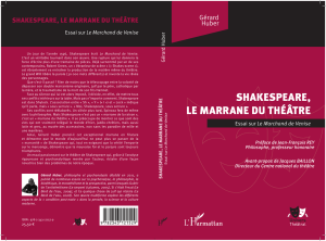 SHAKESPEARE, LE MARRANE DU THÉÂTRE
