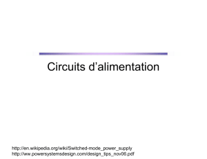 Circuits d`alimentation