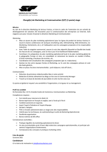 Chargé(e) de Marketing et Communication (H/F) (1
