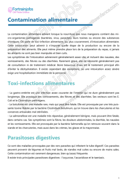 Contamination alimentaire