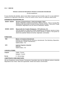 CV n° : 10601106 Directeur commercial international / Directrice