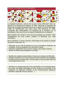 Le dispositif d`annonce, mesure 40 du plan cancer 2003