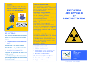 EXPOSITION AUX RAYONS X ET RADIOPROTECTION