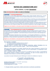 NOTICE DE CANDIDAT THEMATIQUE 2017