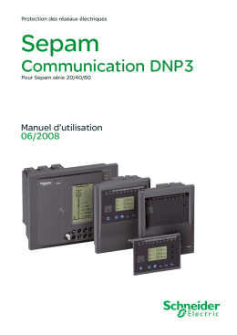 Communication DNP3 - Schneider Electric