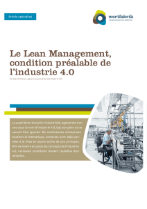 Le Lean Management, condition préalable de l`industrie 4.0