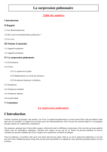 La surpression pulmonaire I Introduction