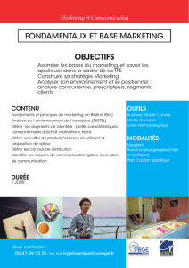 Objectifs fondamentaux et base marketing