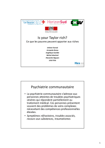 Is your Taylor rich? - Institut et Haute Ecole de la Santé La Source