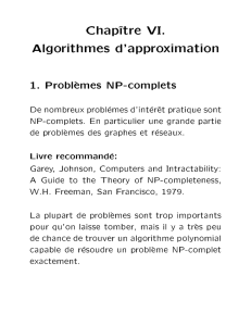 Chap^ tre VI. Algorithmes d`approximation