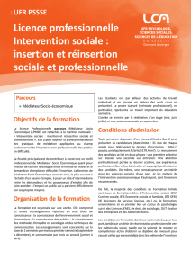Licence professionnelle Intervention sociale : insertion et réinsertion
