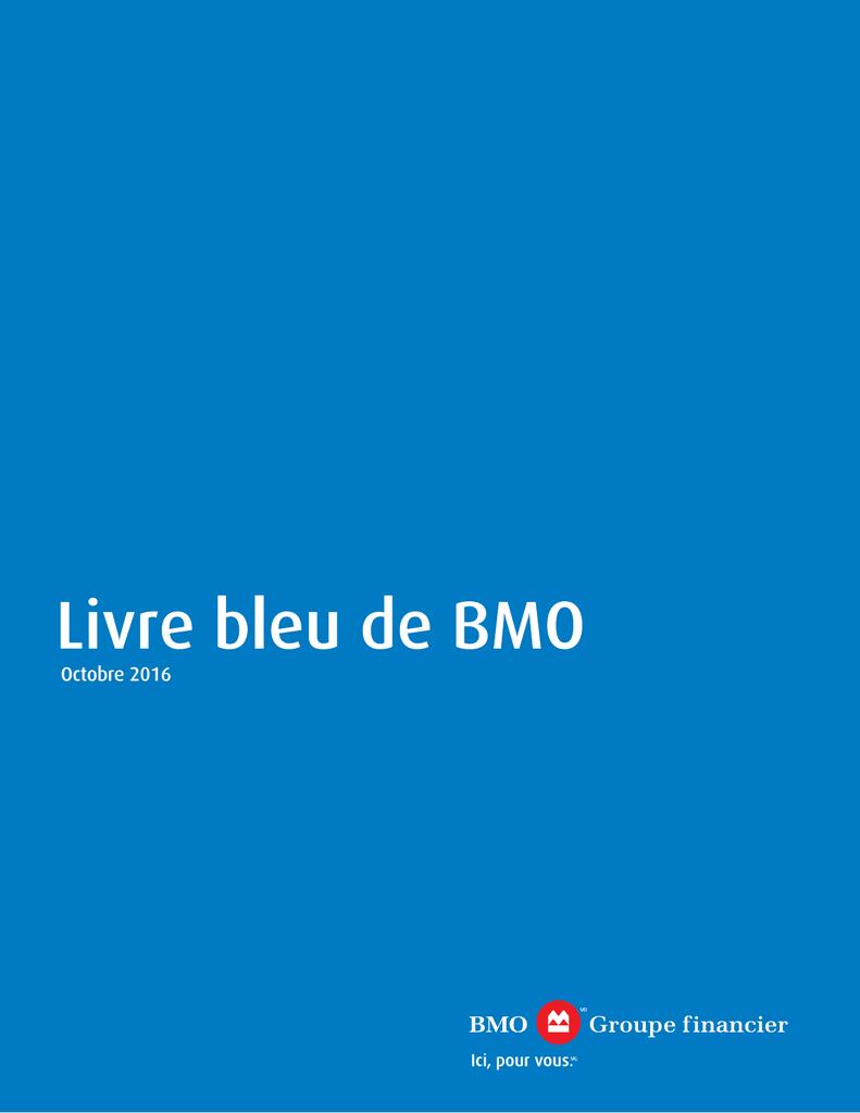 Livre Bleu De Bmo Bmo Economics