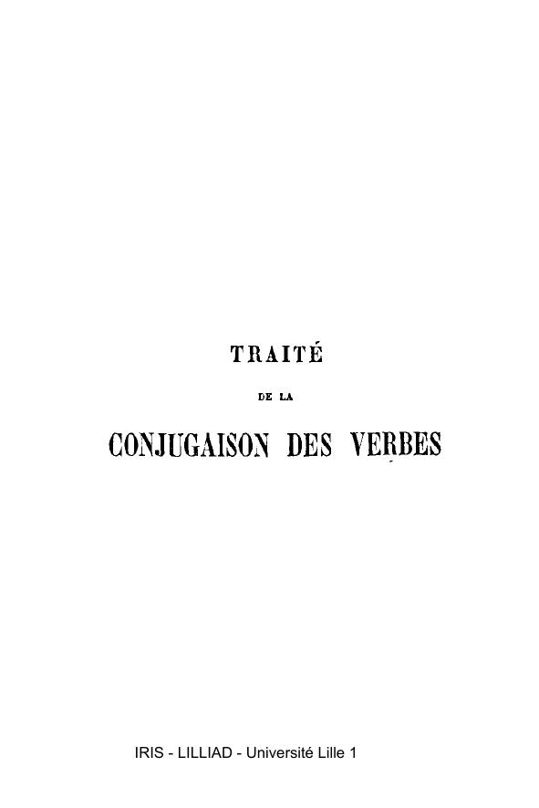 Conjugaison Des Verbes Iris