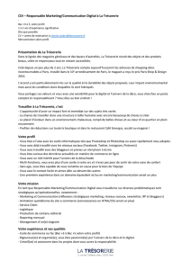 CDI – Responsable Marketing/Communication