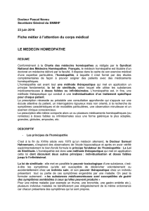 Fiche métier à l`attention du corps médical