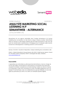 analyste marketing social listening h/f semantiweb