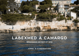 appel LabexMed-Camargo 2017-2018