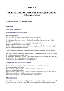 NOTICE OPHTAXIA flacon 120 ml avec oeillère