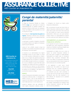 Congé de maternité/paternité/ parental - HED