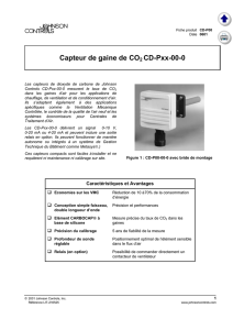 Capteur de gaine de CO2 CD-Pxx-00-0