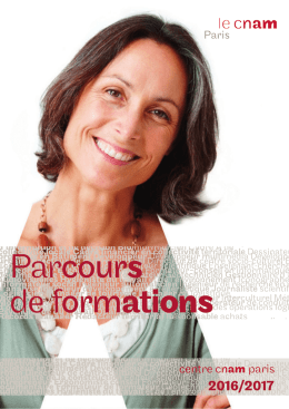 formations - centre Cnam Paris
