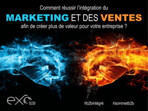 marketing et des ventes