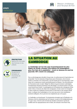 LA SITUATION AU CAMBODGE