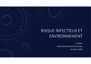 2. Les pathologies infectieuses – Dr Legout
