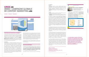 IMMo : caMPaGne GLoBaLe de content MarketInG