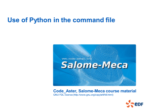 Code_Aster, Salome-Meca course material