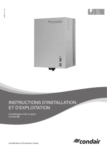 Instructions d`installation et d`exploitation Condair EC