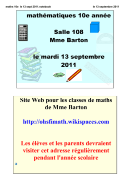 maths 10e le 13 sept 2011.notebook
