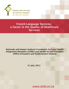 French Language Services, a Factor in the Quality of Healthcare