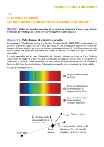 TP7 La physique du redshift