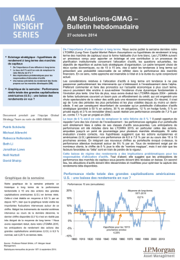 AM Solutions-GMAG – Bulletin hebdomadaire