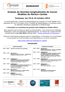 WORKSHOP Analyse de données longitudinales de Cancer
