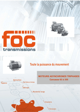 Catalogue Moteurs FOC TRANSMISSIONS