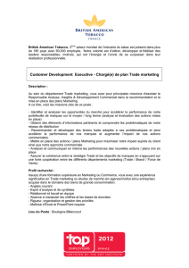 de plan Trade Marketing (Customer Development