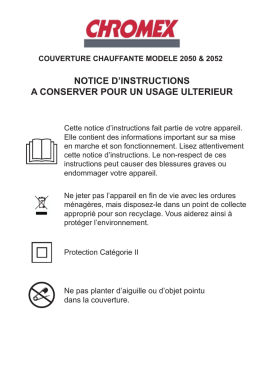 NOTICE D`INSTRUCTIONS A CONSERVER POUR UN USAGE