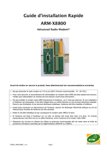 Guide d`installation Rapide ARM-X8800