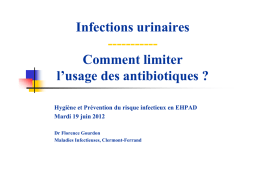 7 Infections urinaires en EPHAD - CClin Sud-Est
